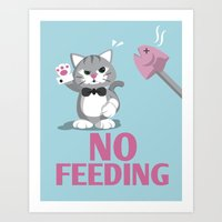 No Feeding! Art Print