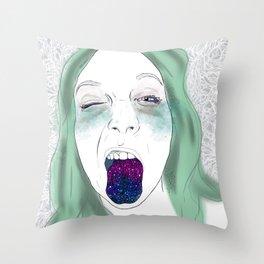 Doodle Portrait 3 Throw Pillow