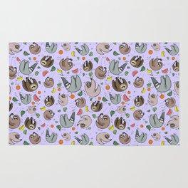 Pretty Sloth Pattern Rug