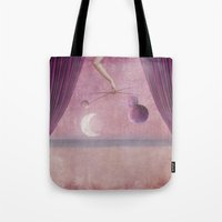 theater Tote Bags featuring Night theater by Karine's Pictures