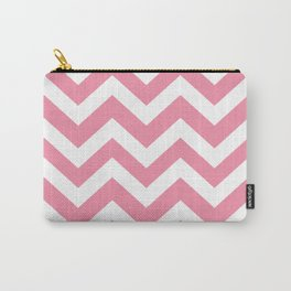 Vanilla ice - pink color - Zigzag Chevron Pattern Carry-All Pouch