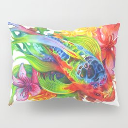 Rainbow Koi Pillow Sham