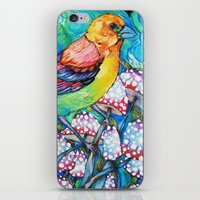 birds and mushrooms iPhone Skin