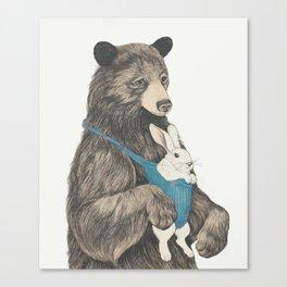 the bear au pair Canvas Print