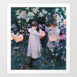 John Singer Sargent Carnation Lily Lily Rose Art Print