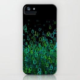 Binary Cloud iPhone Case