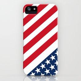 USA American Flag Slanted Stripes iPhone Case