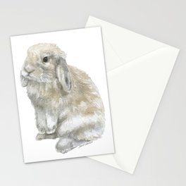 Lop Rabbit Watercolor Painting Bunny Stationery Cards