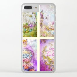 Easter Mood Collection Clear iPhone Case