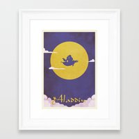 aladdin Framed Art Prints featuring Aladdin by Mattias Fahlberg