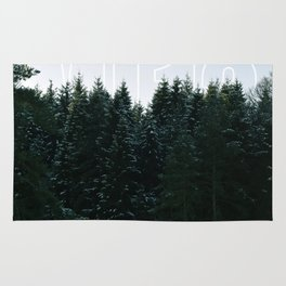 White Tipped Forest Rug
