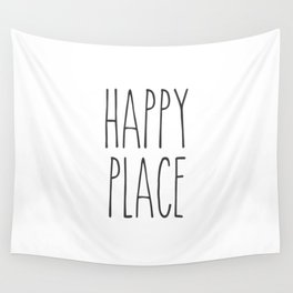Happy Place Saying Wall Tapestry