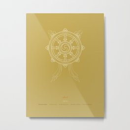 Dharmachakra – Wheel of Law Metal Print