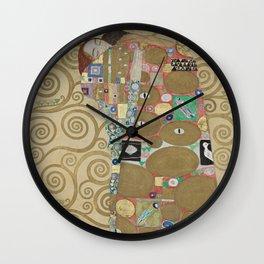 Gustav Klimt - The Embrace Wall Clock