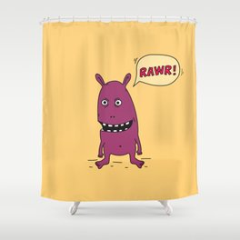 Rawr! Monster! Shower Curtain
