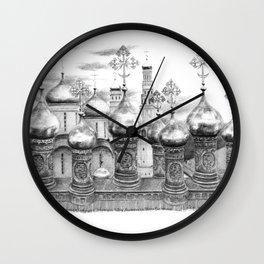 Moscow Kremlin Cupolas G2009-048 Wall Clock