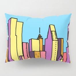 architecture art, new york city illustration, new york skyline, Pillow Sham