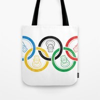 sports Tote Bags featuring sports drink by Jordan Horstman