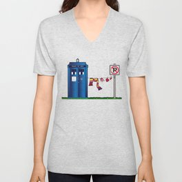 Doctor Who: tardis wardrobe  Unisex V-Neck