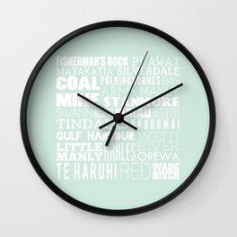 Hibiscus Coast V4 Wall Clock