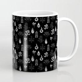 Meditation Symbols Pattern .:blackNwhite Coffee Mug