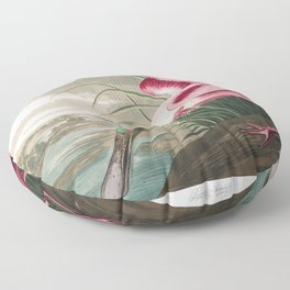 Roseate spoonbill, Birds of America, Audubon Plate 321 Floor Pillow