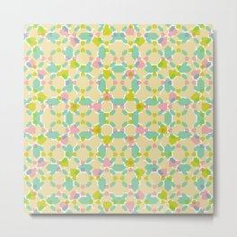 Pastel Bubblegum Kaleidoscope Metal Print