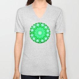 Emerald Mandala Unisex V-Neck