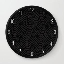 Black Reptile Skin Wall Clock