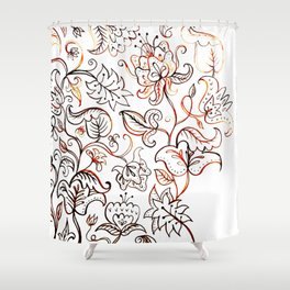 Floral Jacquard - watercolor painting Shower Curtain