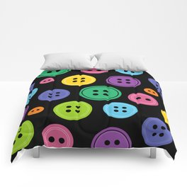 Colorful Rainbow Buttons Comforters