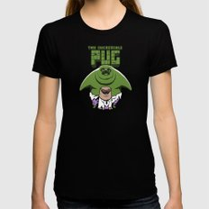 The Incredible Pug Black MEDIUM Womens Fitted Tee