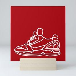 Sneakers Outline #4 Mini Art Print