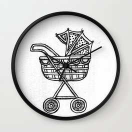 Oh Baby Carriage Wall Clock
