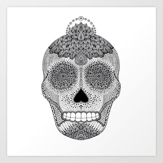 Moon Skull Art Print