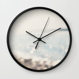 close your eyes ... clear your heart ... let go Wall Clock