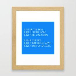 Summer air (blue) Framed Art Print