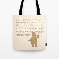 writing Tote Bags featuring Writing by Sarinya  Withaya
