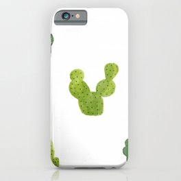 ABSTRACT WATERCOLOR CACTUS PATTERN iPhone Case