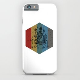 Lord Ganesh Retro Hexagon Art iPhone Case