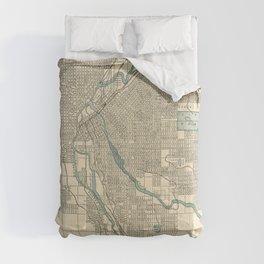 Vintage Map of Denver Colorado (1901) Comforters