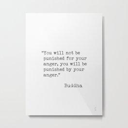 Buddha typed quotes Metal Print