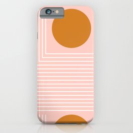 Abstraction_CIRCLE_LINE_VISUAL_POP_ART_Minimalism_01A iPhone Case
