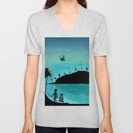 Discovery of the island Unisex V-Neck