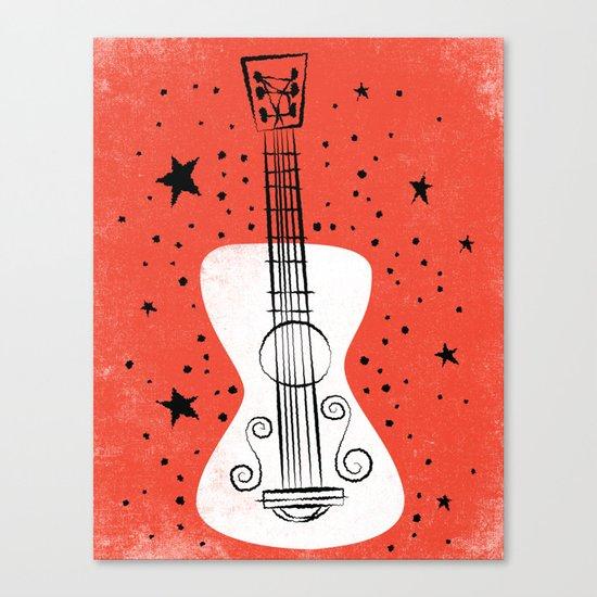 POP GUITAR Canvas Print
