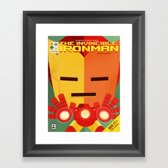 ironman fan art Framed Art Print