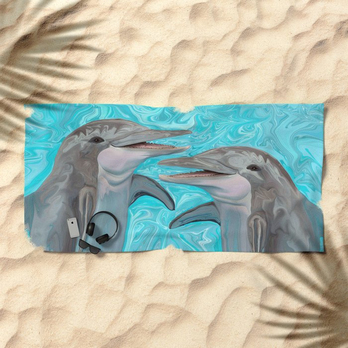 Dolphin Chatter Beach Towel