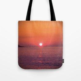 Sunrise July morning at Irakli Bulgaria Tote Bag