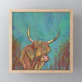 Highland Cow Framed Mini Art Print