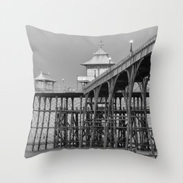 Clevedon Pier Throw Pillow